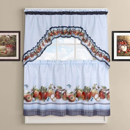 Featured Image of Delicious Apples Kitchen Curtain Tier And Valance Sets