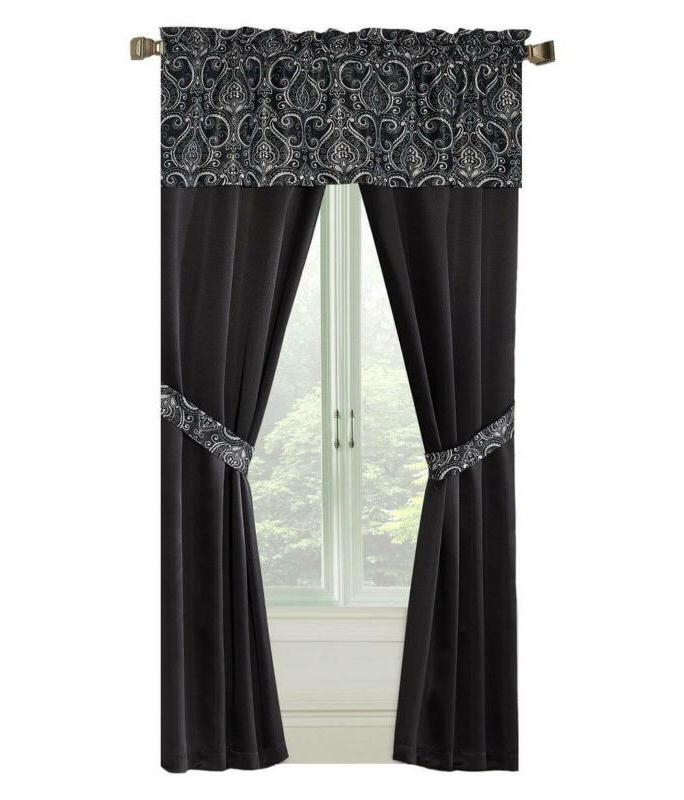 Goodgram Window Curtains | Window Curtains With Regard To Embroidered Floral 5 Piece Kitchen Curtain Sets (View 13 of 25)