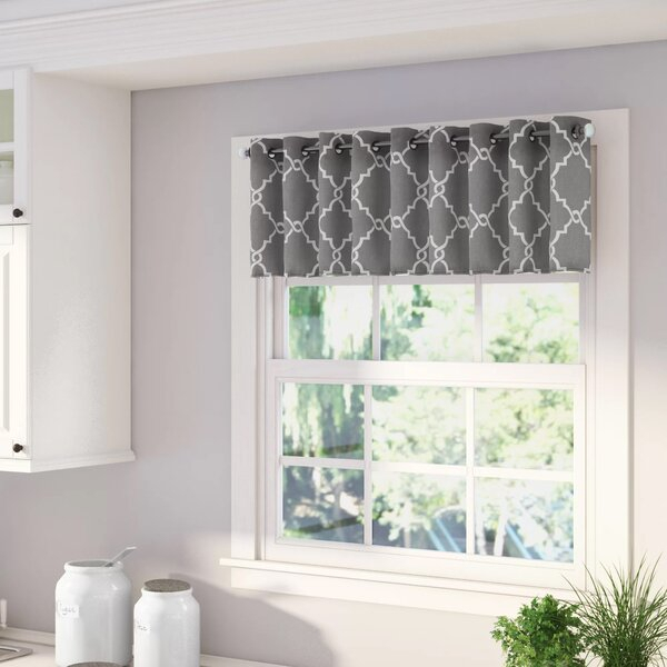 Gray Curtain Valance | Wayfair Pertaining To Class Blue Cotton Blend Macrame Trimmed Decorative Window Curtains (View 12 of 25)