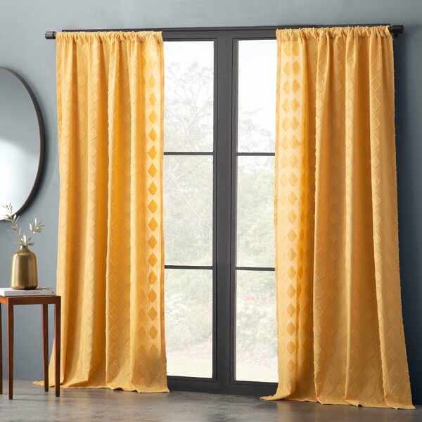 Gray Microfiber Curtains | Wayfair Intended For White Micro Striped Semi Sheer Window Curtain Pieces (Image 4 of 25)