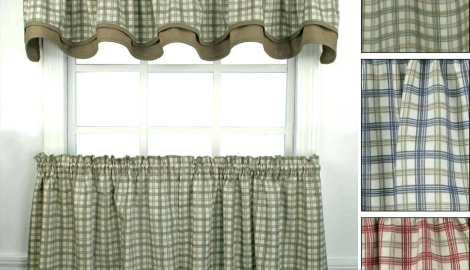 Green Plaid Kitchen Curtains Ideas Photos Grey Target Best With Regard To Classic Black And White Curtain Tiers (View 12 of 25)