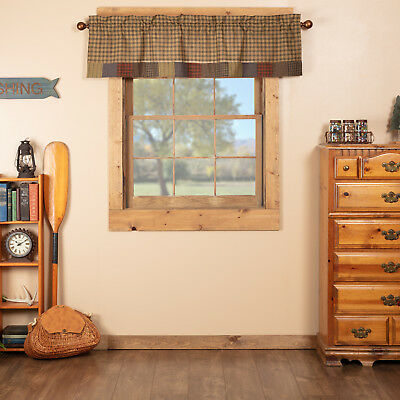 Green Rustic Kitchen Curtains Ridgeline Valance Rod Pocket Cotton Plaid   Ebay With Rustic Kitchen Curtains (View 3 of 25)