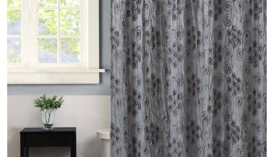 Grey Christian Shower Curtains Images For Window Pretty For Country Style Curtain Parts With White Daisy Lace Accent (View 5 of 25)