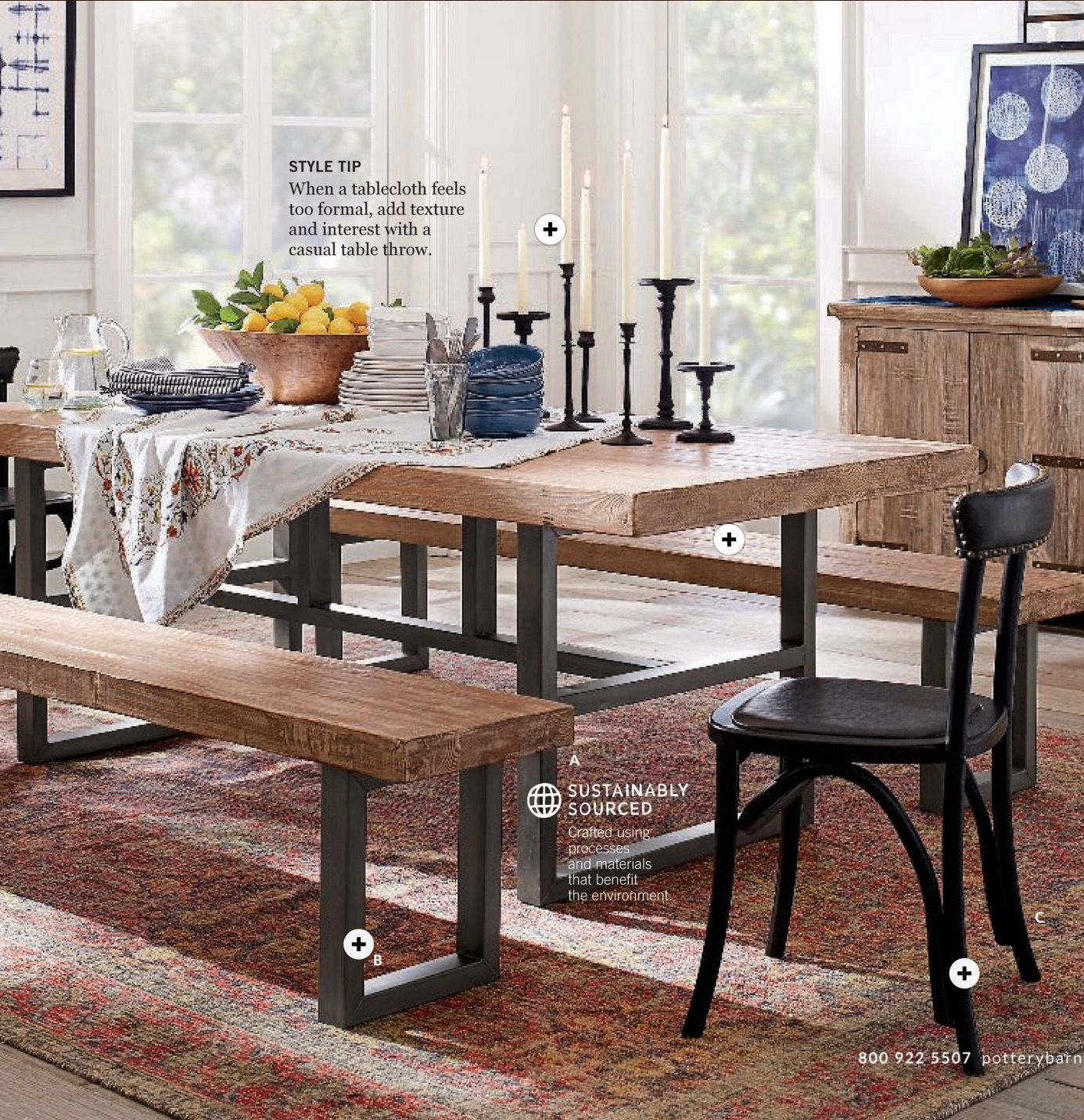 Griffin Dining Table, Lucas Dining Chairs, Donovan Pendant Inside 2018 Griffin Reclaimed Wood Dining Tables (View 11 of 25)
