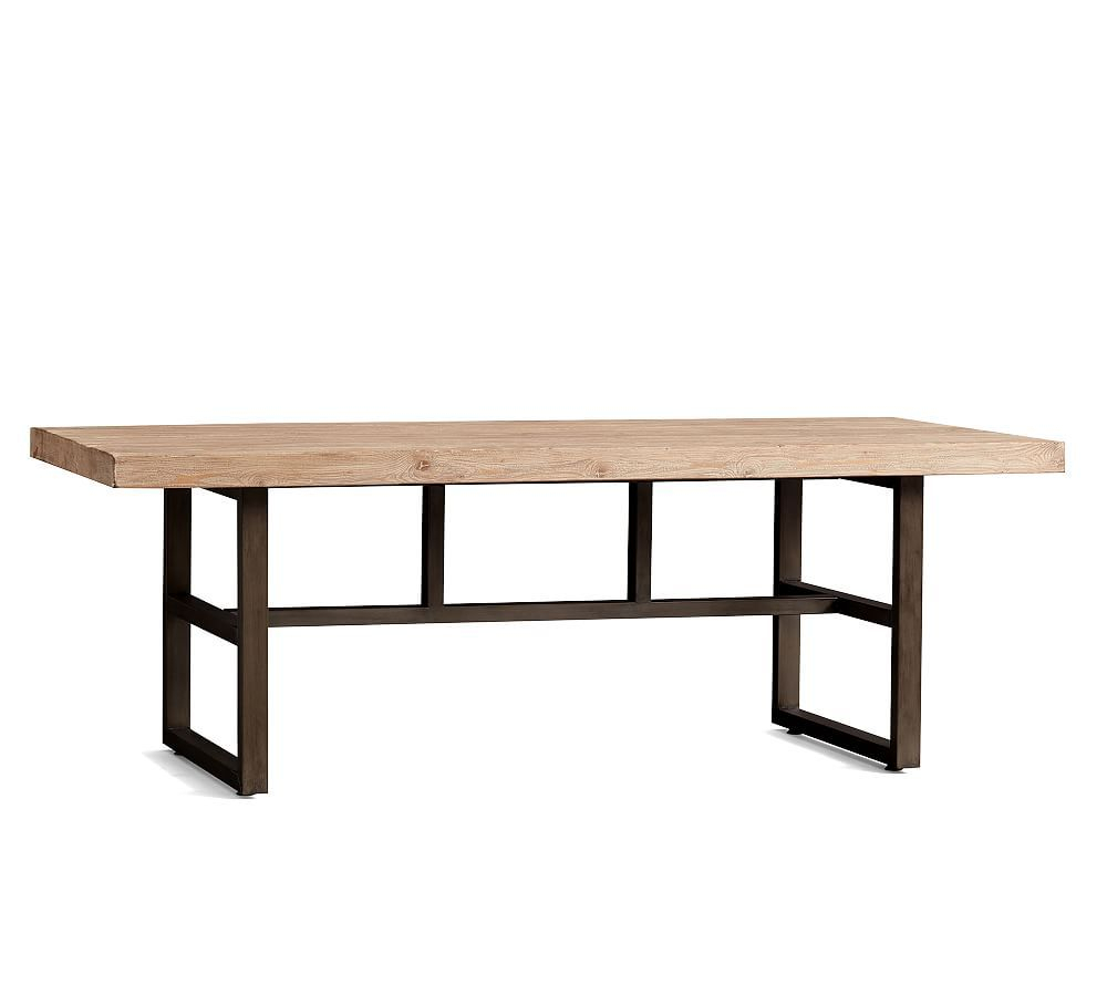 Griffin Reclaimed Wood & Wrought Iron Rectangular Fixed With Regard To Most Recently Released Griffin Reclaimed Wood Dining Tables (View 4 of 25)