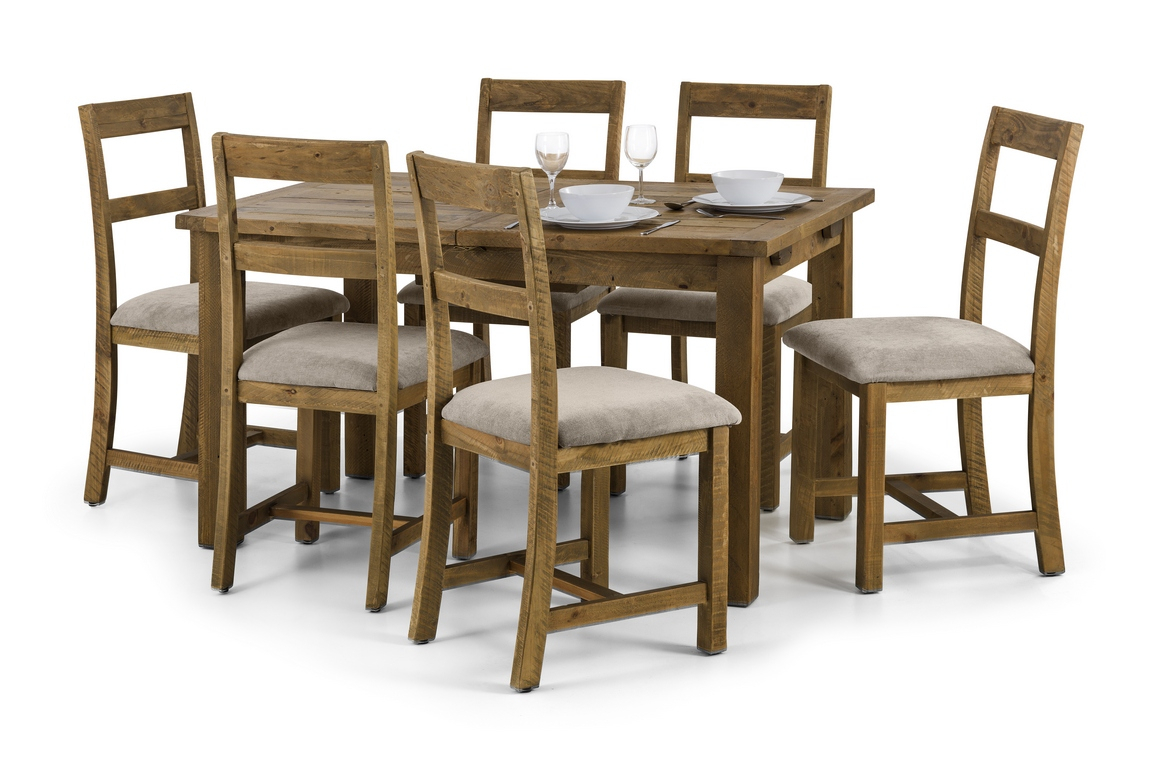 Hampton Extending Dining Table + 6 Chairs Regarding Recent Stafford Reclaimed Extending Dining Tables (View 19 of 25)