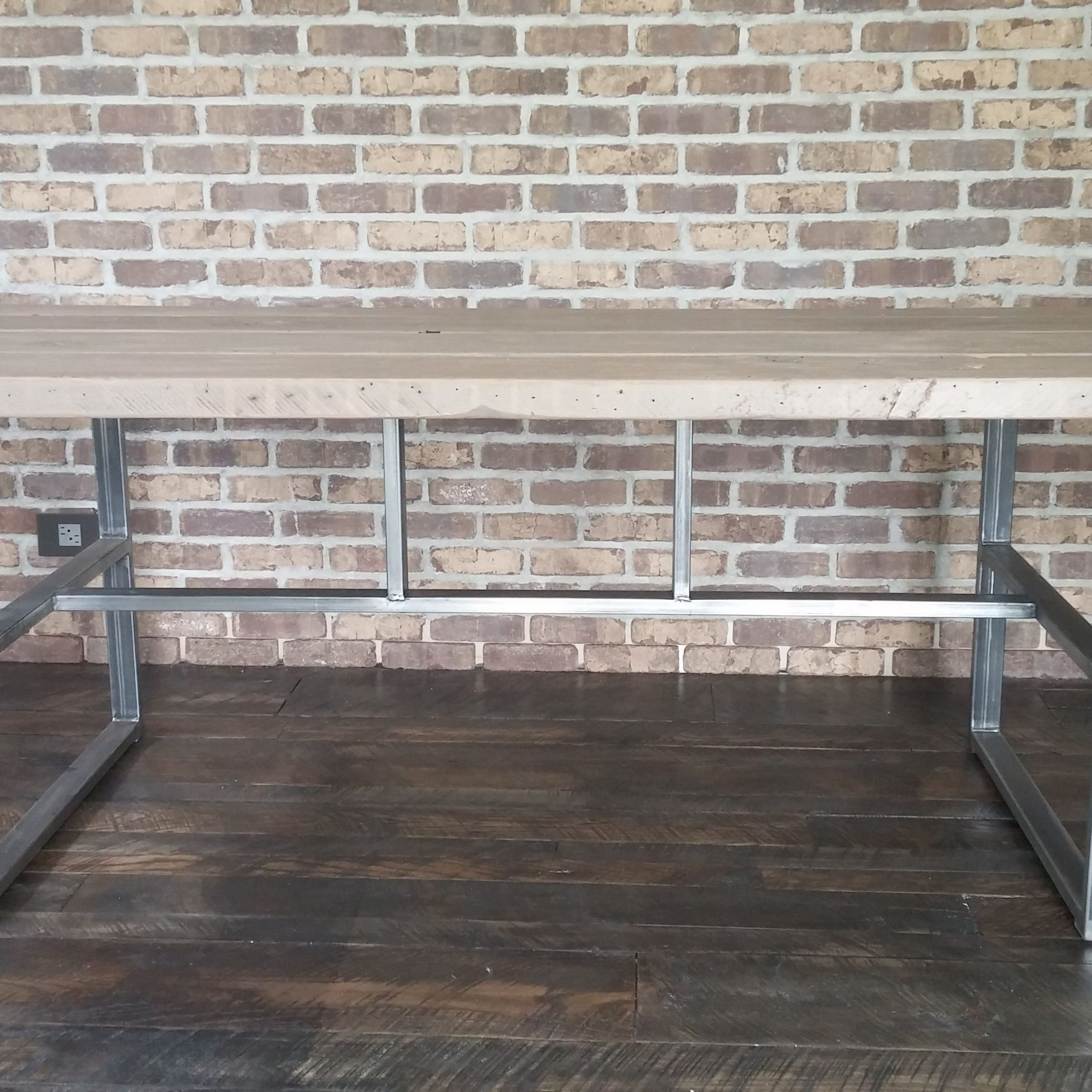 Hand Made Industrial Reclaimed Dining Table, Griffin Table Intended For Most Up To Date Griffin Reclaimed Wood Dining Tables (View 17 of 25)