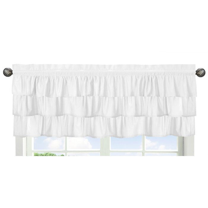 """Harper 54"""" Window Valance Intended For Hudson Pintuck Window Curtain Valances (Image 10 of 25)"""