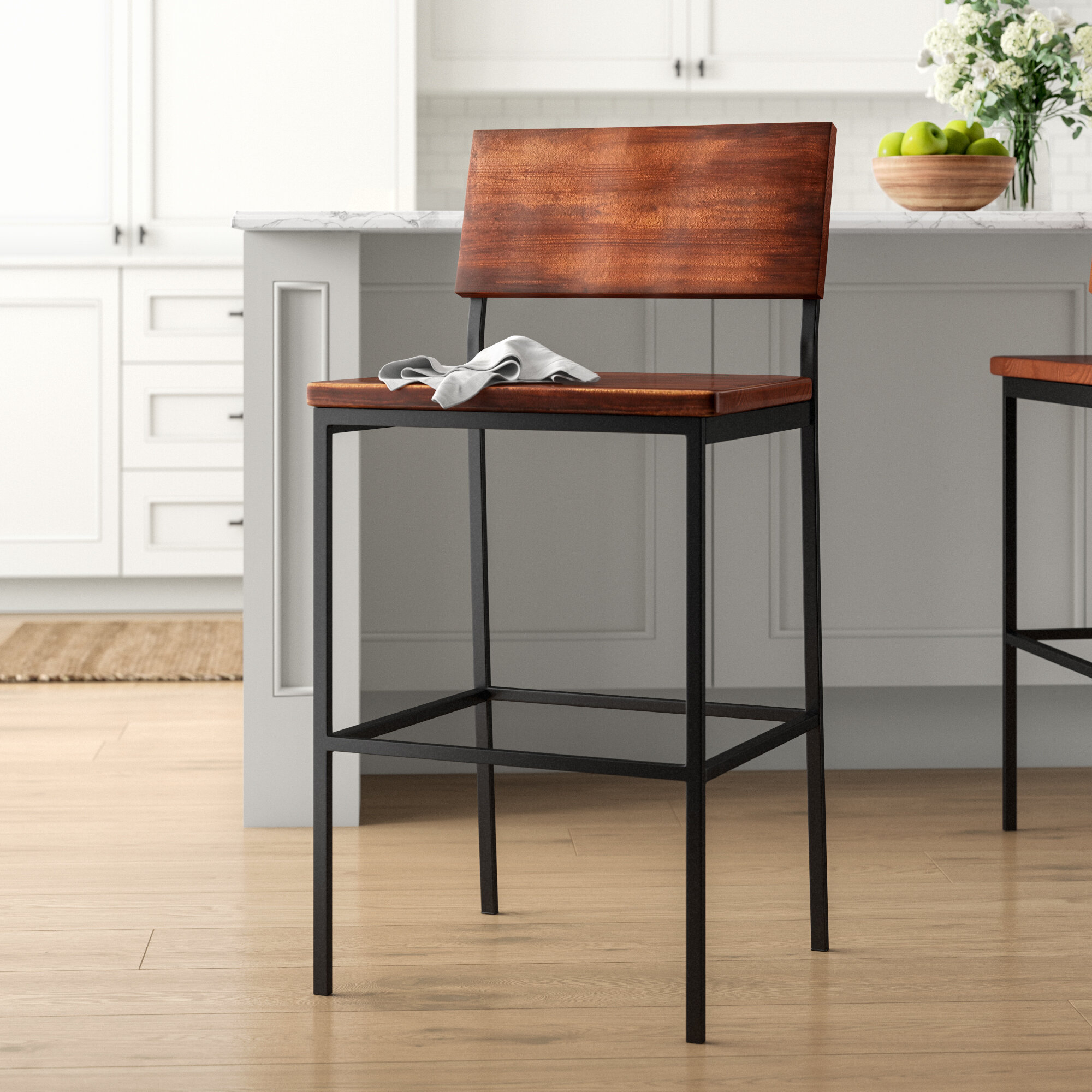 "Hart 30"" Bar Stool Regarding Latest Hart Reclaimed Extending Dining Tables (Image 12 of 25)"