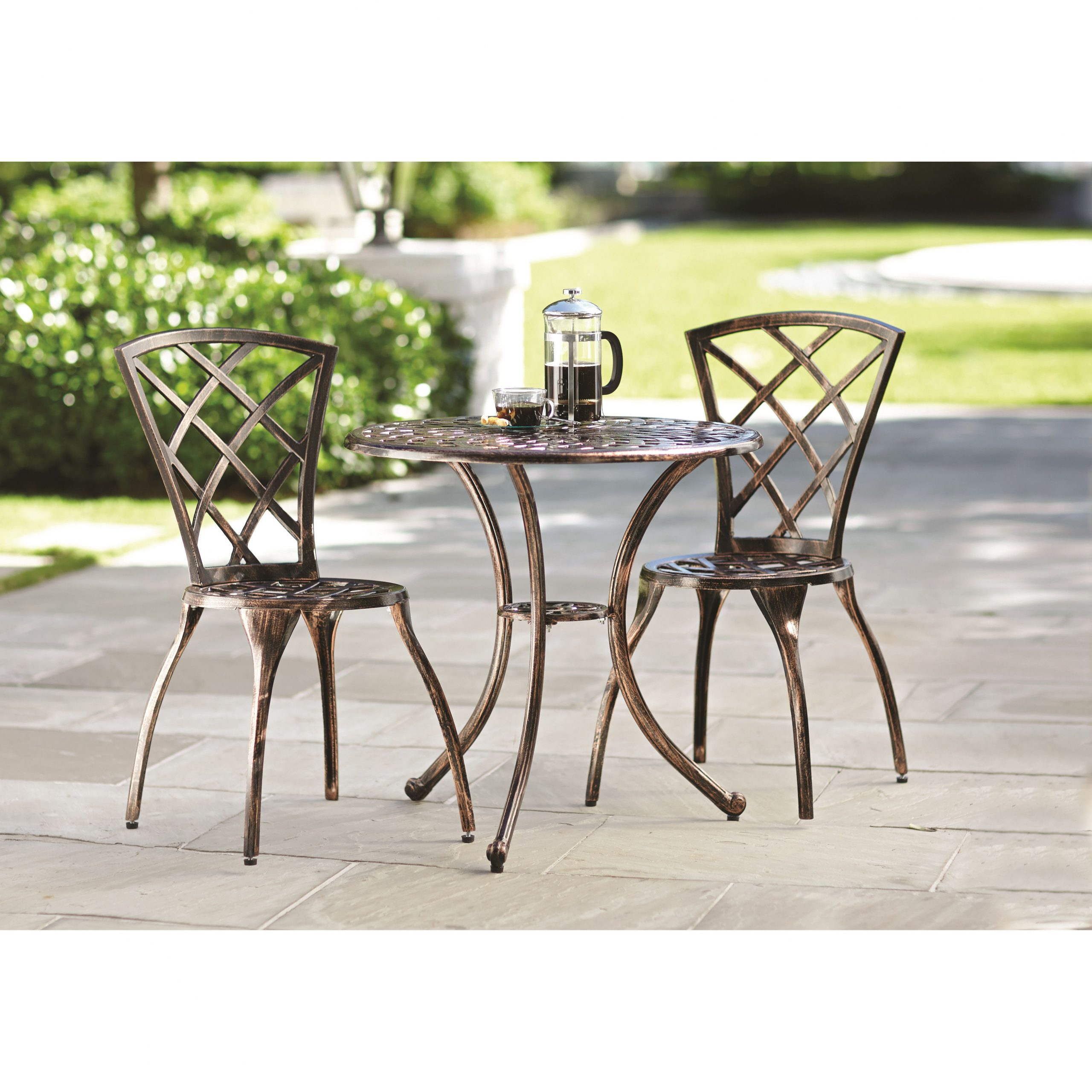 Hearst 3 Piece Bistro Set | New Home | 3 Piece Bistro Set Pertaining To Current Hearst Bar Tables (Image 12 of 25)