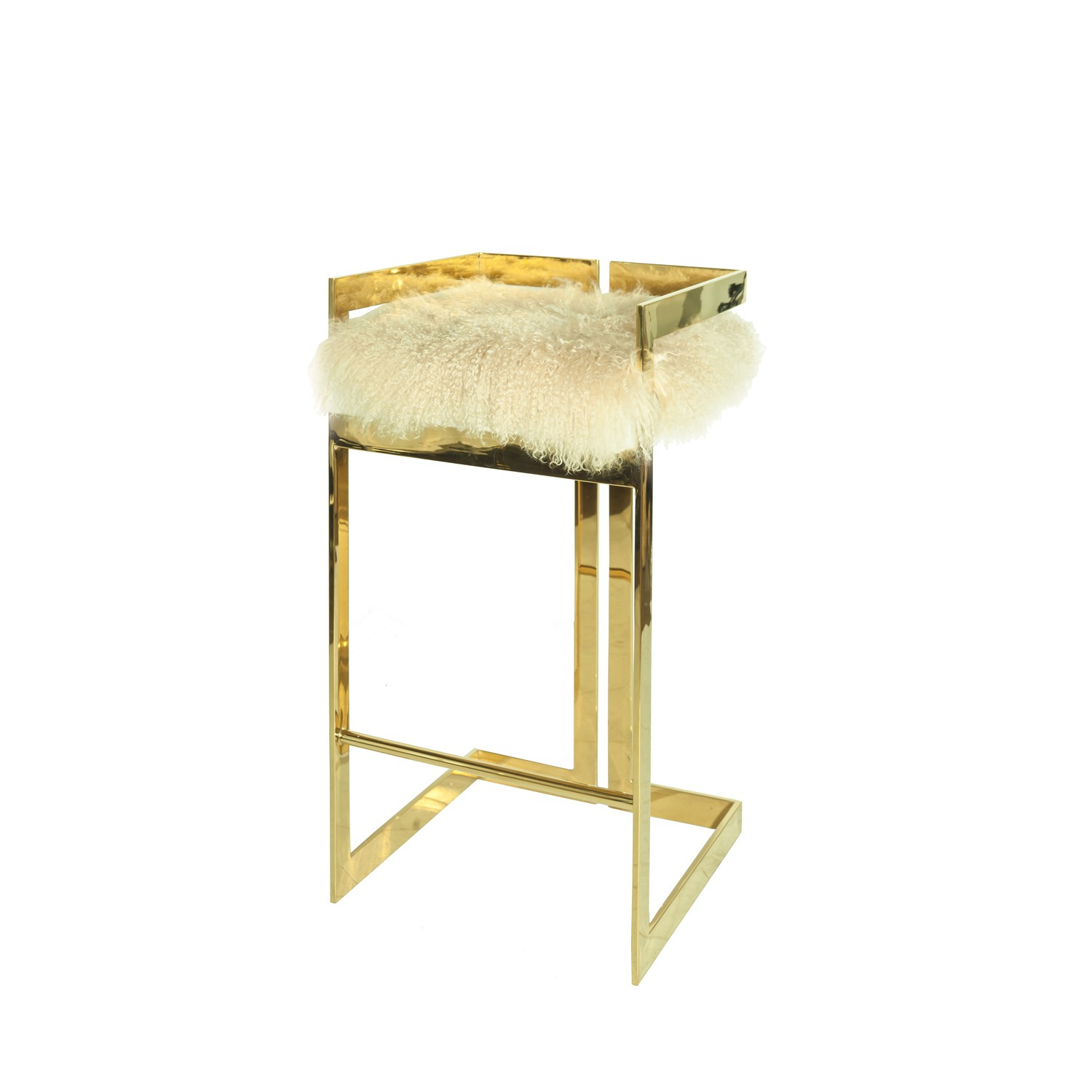 Hearst Counter Stool With Mongolian Fur Seat Intended For 2018 Hearst Bar Tables (Image 16 of 25)