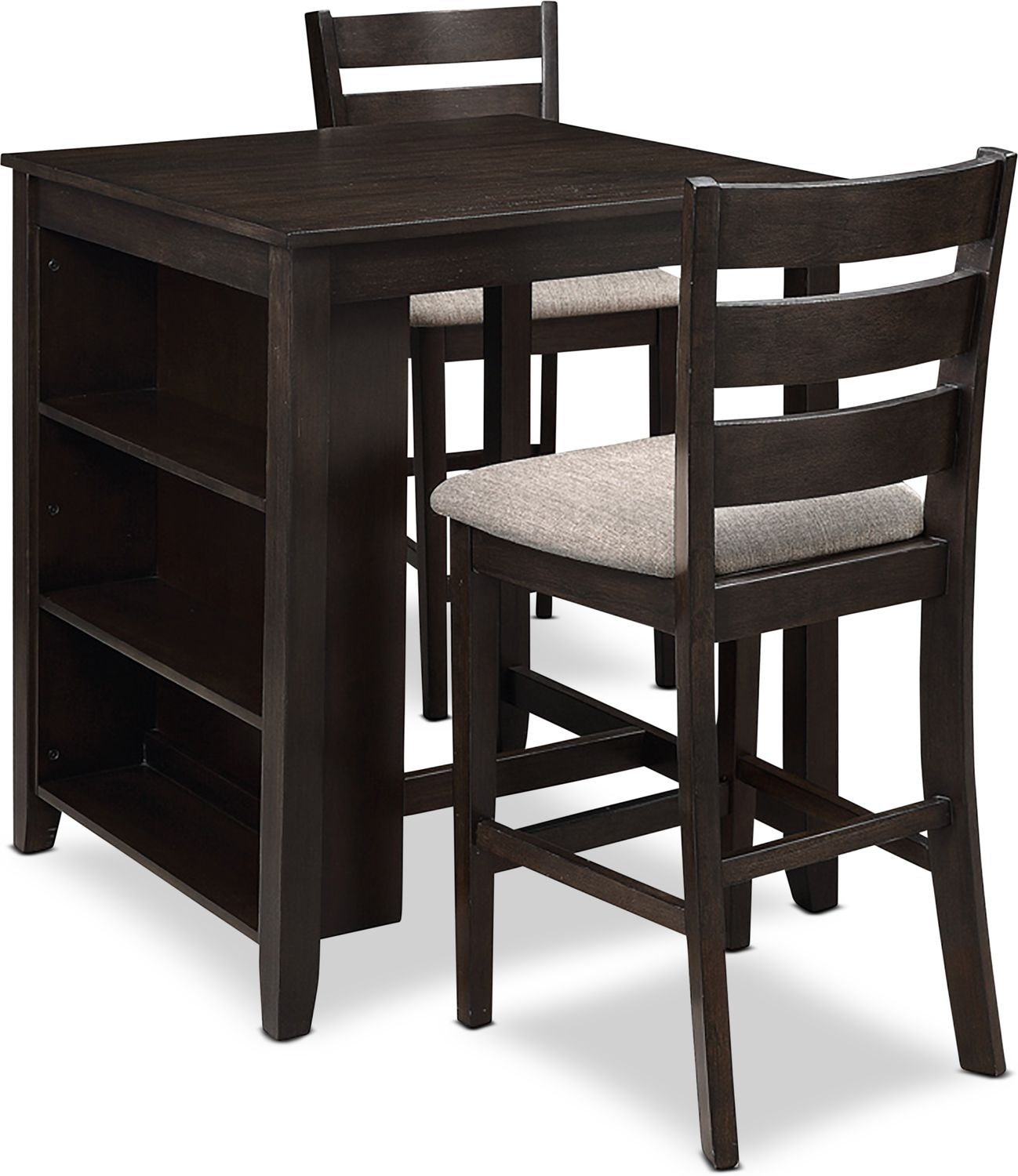 Hendricks Counter Height Table With 2 Stools With 2017 Carson Counter Height Tables (View 15 of 25)