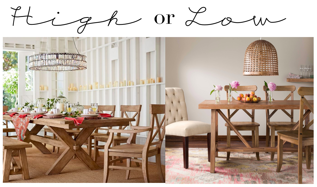 High Or Low // Farmhouse Table Sets – My 100 Year Old Home Regarding 2017 Seadrift Benchwright Extending Dining Tables (View 22 of 25)