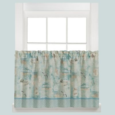 High Tide Kitchen Window Curtain Tier Pair Intended For Tranquility Curtain Tier Pairs (View 3 of 25)