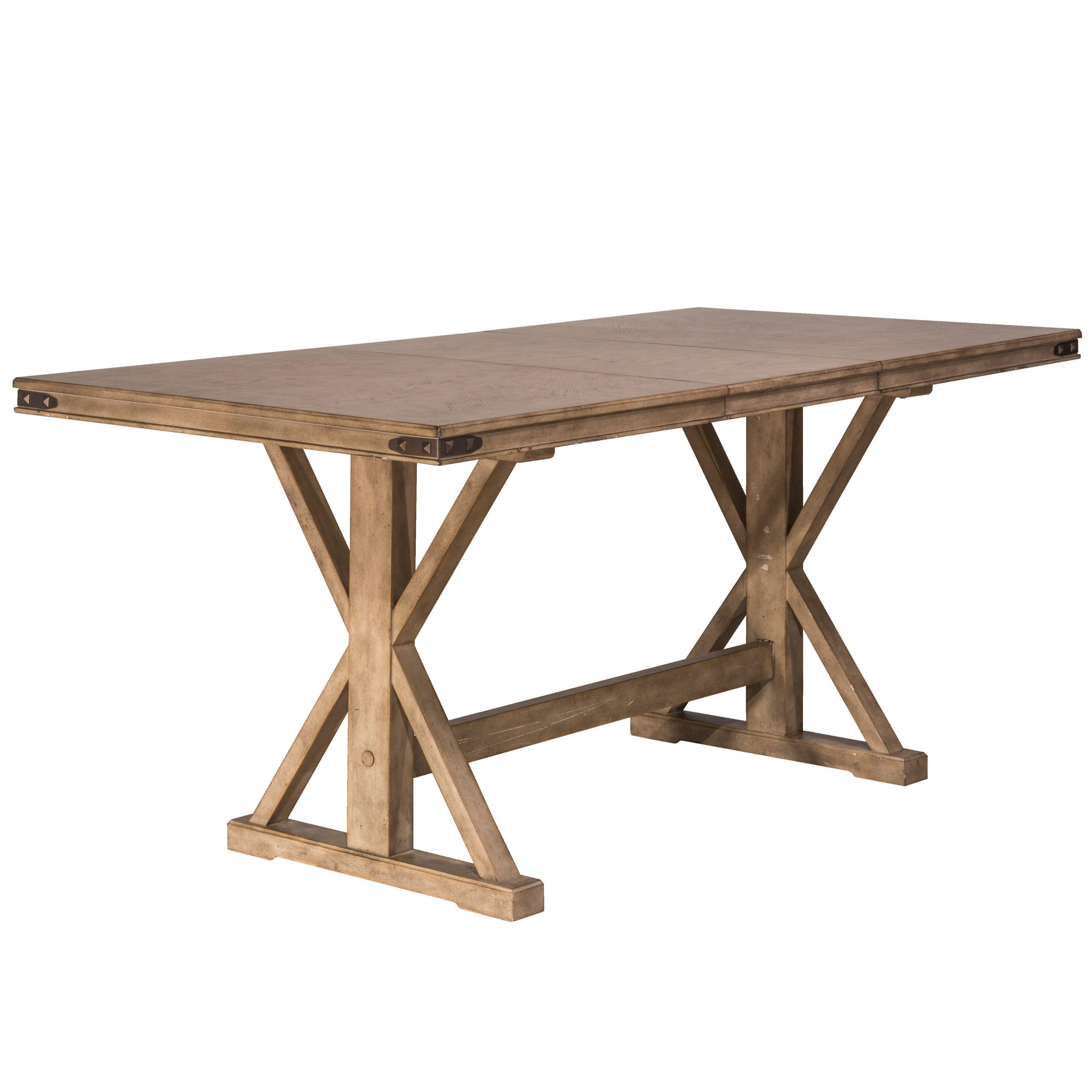 Hillsdale Furniture Leclair Vintage Grey Wood Counter Height Dining Table Regarding Most Recently Released Benchwright Counter Height Tables (View 12 of 25)