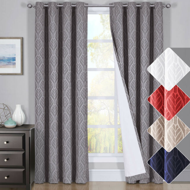 Hilton Window Treatment Thermal Insulated Grommet Blackout Curtains /drapes  Pair Inside Hudson Pintuck Window Curtain Valances (Image 12 of 25)