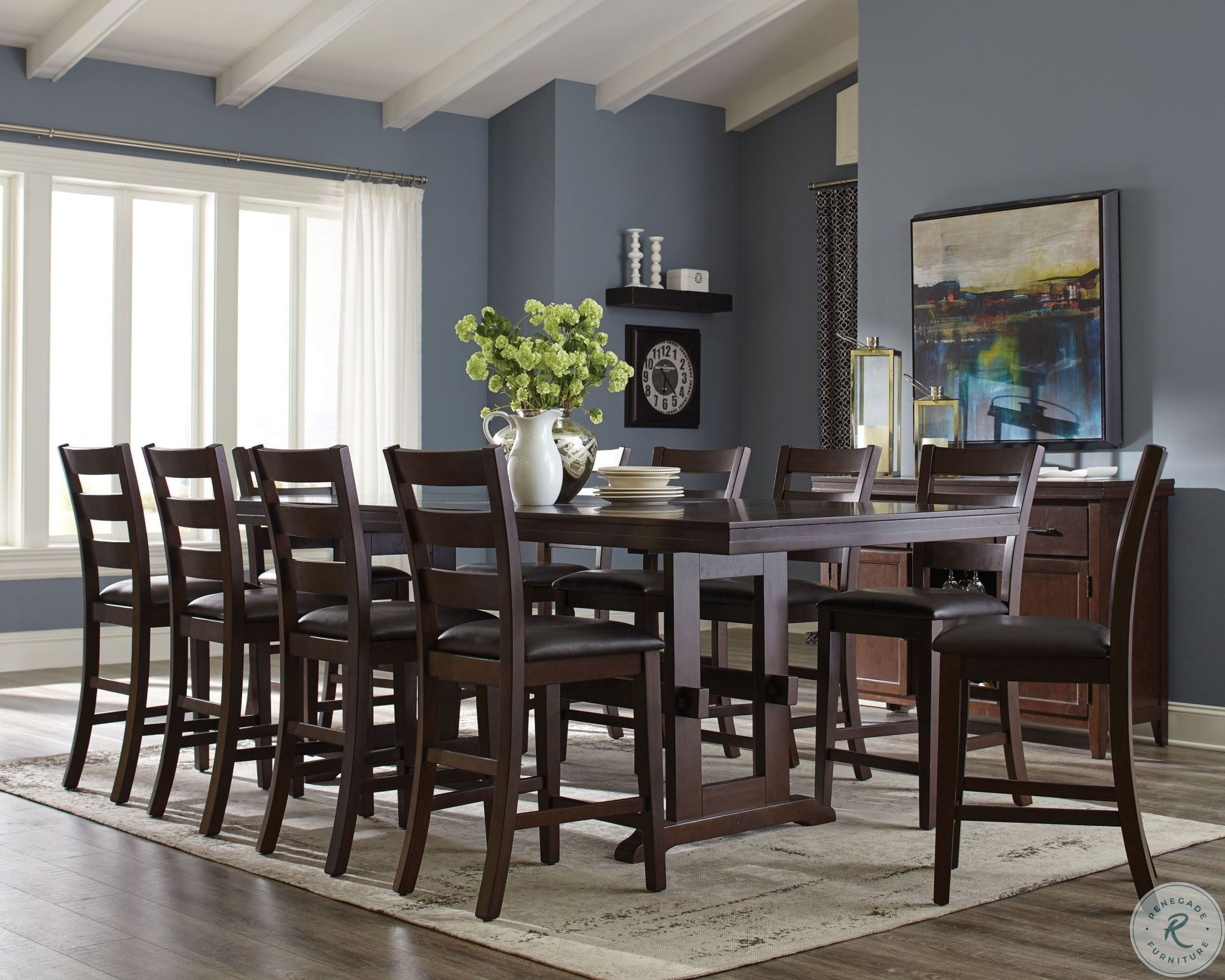 Holbrook Antique Tobacco Extendable Counter Height Dining Table With Regard To Recent Gray Wash Livingston Extending Dining Tables (View 21 of 25)