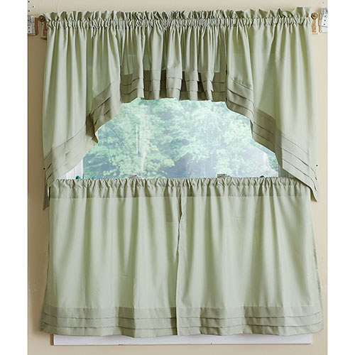 Holden Pleated Tier Curtain For Pleated Curtain Tiers (View 6 of 25)
