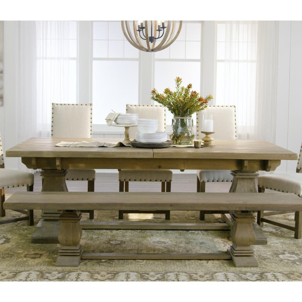 Home Decorators Collection Aldridge Antique Grey Extendable Inside 2017 Stafford Reclaimed Extending Dining Tables (View 8 of 25)
