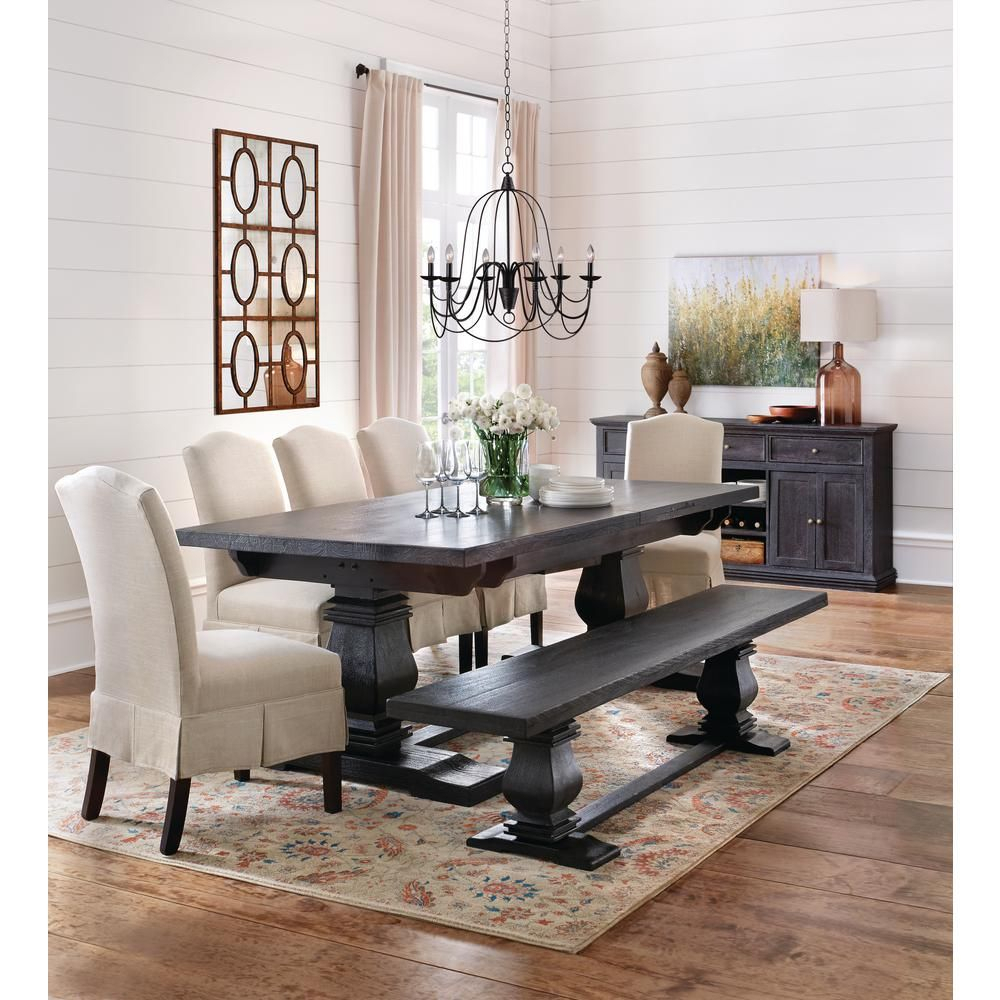 Home Decorators Collection Aldridge Washed Black Buffet In Most Popular Black Wash Banks Extending Dining Tables (View 3 of 25)