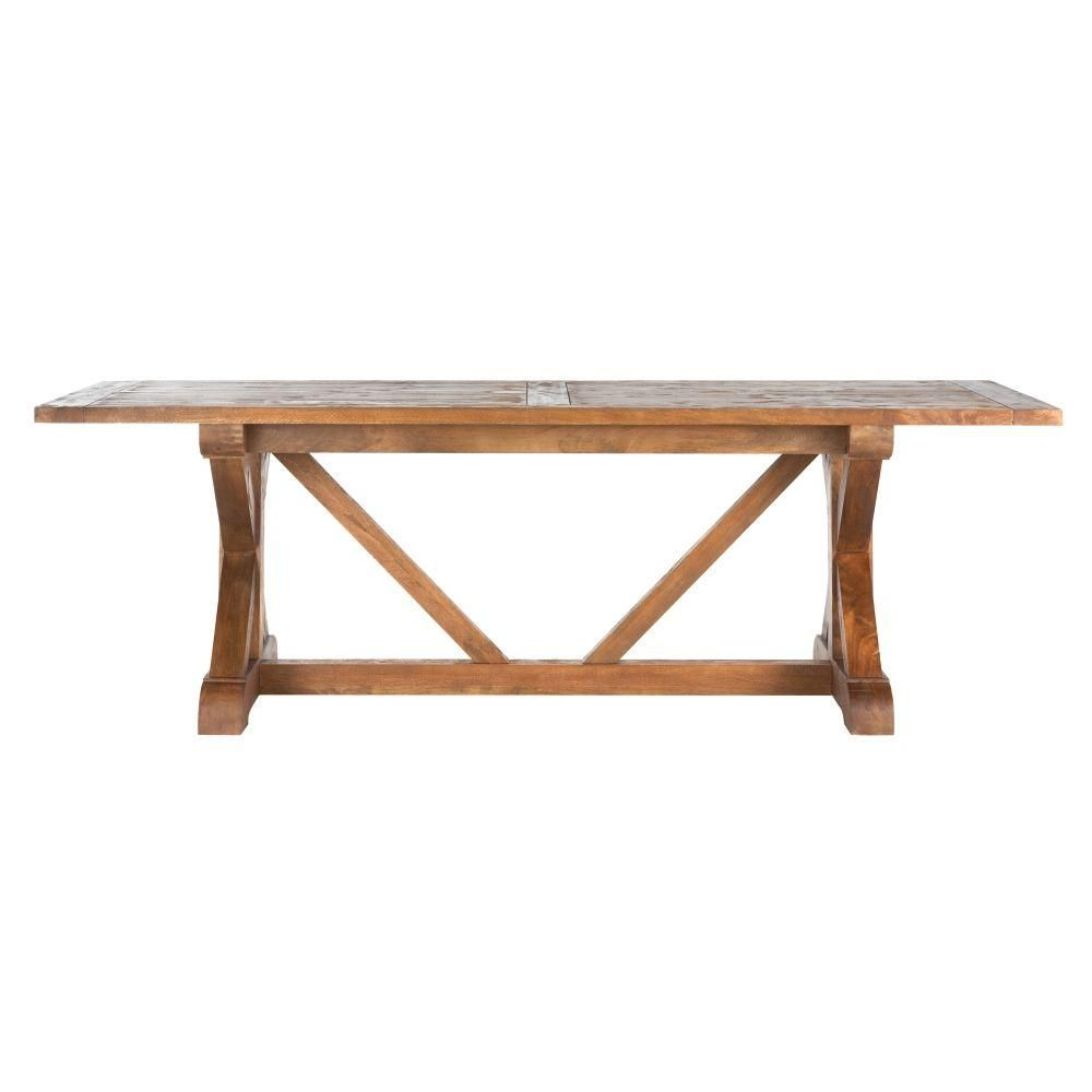 Home Decorators Collection Cane Bark (Brown) Rectangular Throughout Latest Brown Wash Livingston Extending Dining Tables (View 8 of 25)
