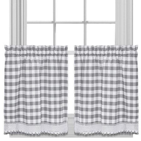 Home | Farmhouse Kitchen In 2019 | Kitchen Curtains Throughout Dove Gray Curtain Tier Pairs (View 4 of 25)