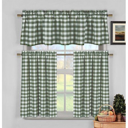Home In 2019   Architectural Details   Kitchen Curtain Sets Within Cotton Blend Grey Kitchen Curtain Tiers (View 15 of 25)