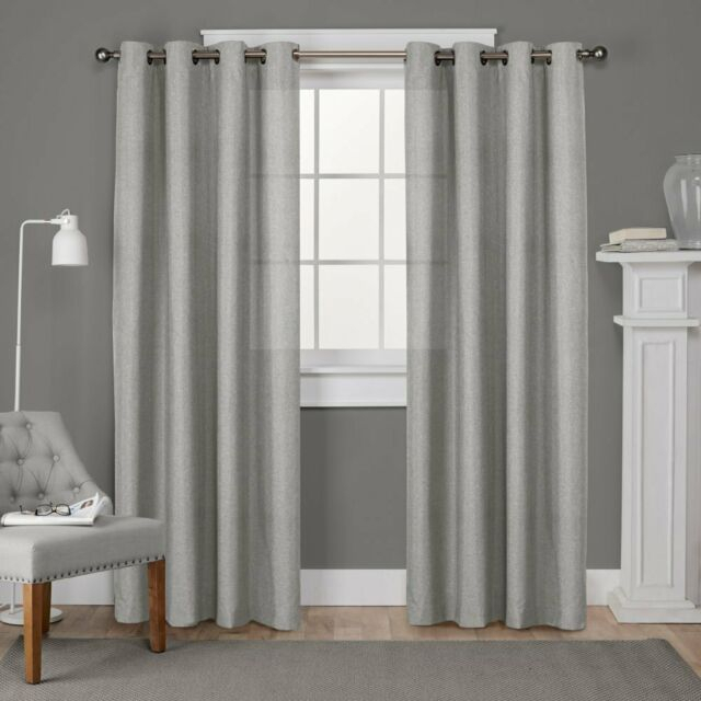 Home Loha Window Curtain Panel Pair With Dove Gray Curtain Tier Pairs (View 8 of 25)
