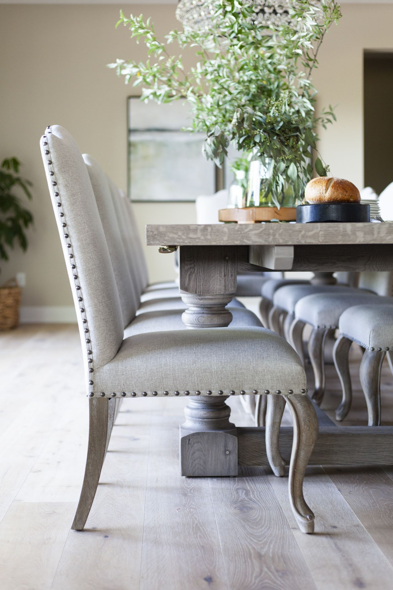 Home Reveal | Shabby Chic Dining Room, Dining Chairs, Dining Throughout 2017 Gray Wash Lorraine Extending Dining Tables (View 8 of 25)