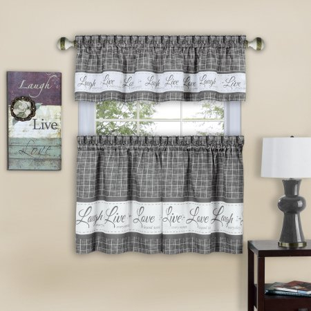 Home | Valance, Valance Curtains, Curtains With Semi Sheer Rod Pocket Kitchen Curtain Valance And Tiers Sets (Image 14 of 25)