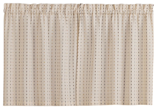 """Hopscotch Kitchen Curtain, 24"""" Tier With Hopscotch 24 Inch Tier Pairs In Neutral (Image 9 of 25)"""