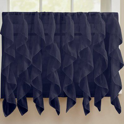 Featured Image of Vertical Ruffled Waterfall Valance And Curtain Tiers