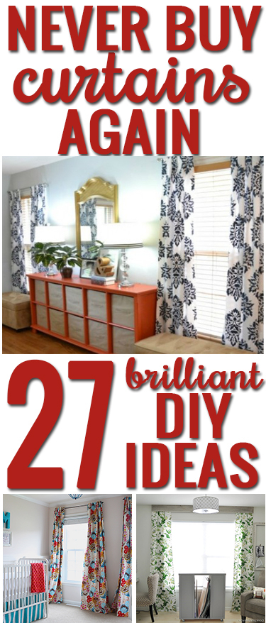 How To Make Your Own Curtains: 27 Brilliant Diy Ideas And Intended For Top Of The Morning Printed Tailored Cottage Curtain Tier Sets (View 20 of 25)