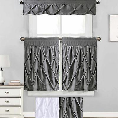 "Hudson Pintuck Window Curtain Valance 12""x60 – $ (View 12 of 25)"