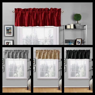 "Hudson Pintuck Window Curtain Valance 12""x60 – $ (Image 6 of 25)"