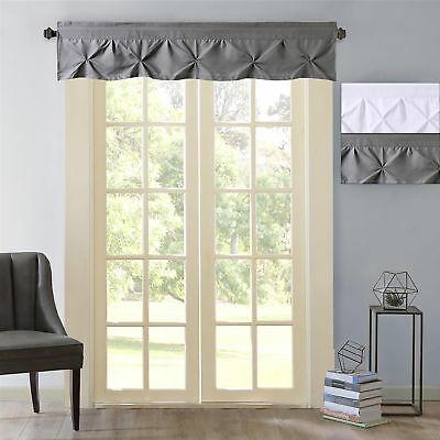 "Hudson Pintuck Window Curtain Valance 12""x60 – $ (Image 7 of 25)"