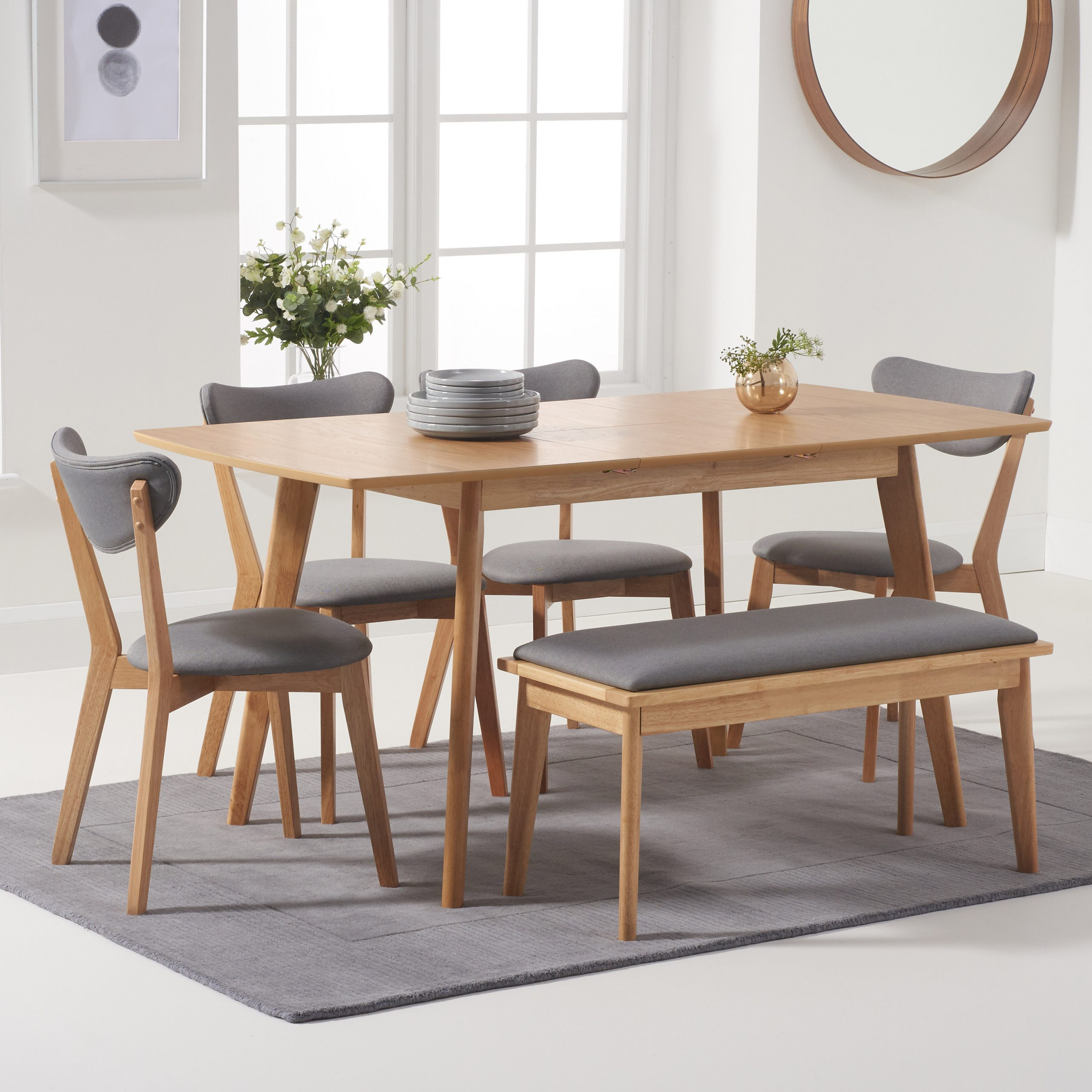 Ideas About Extending Dining Bench, – Howellmagic Dining With Regard To Current Blackened Oak Benchwright Extending Dining Tables (View 17 of 25)