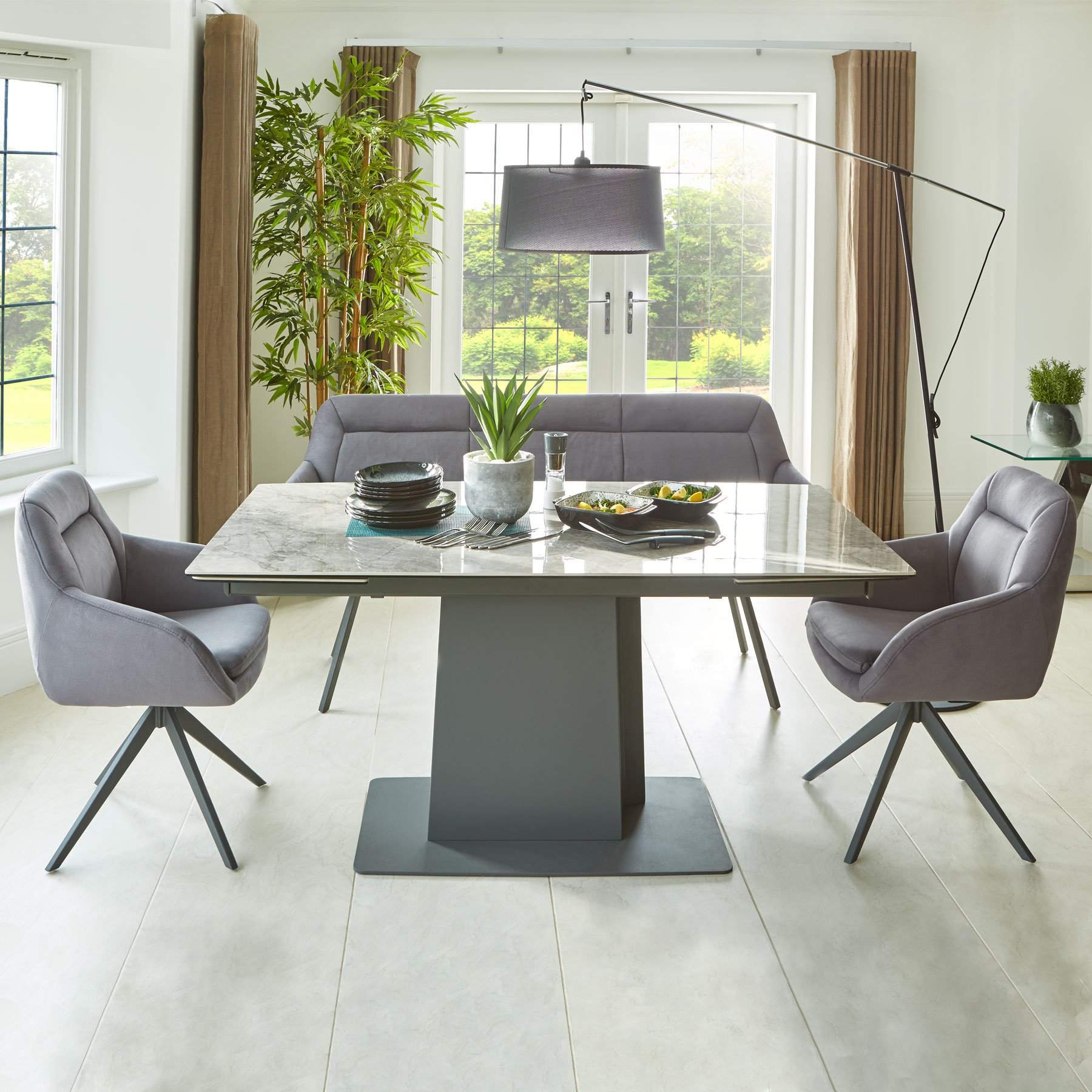 Ideas About Extending Dining Bench, – Howellmagic Dining Within Newest Rustic Mahogany Benchwright Pedestal Extending Dining Tables (View 16 of 25)