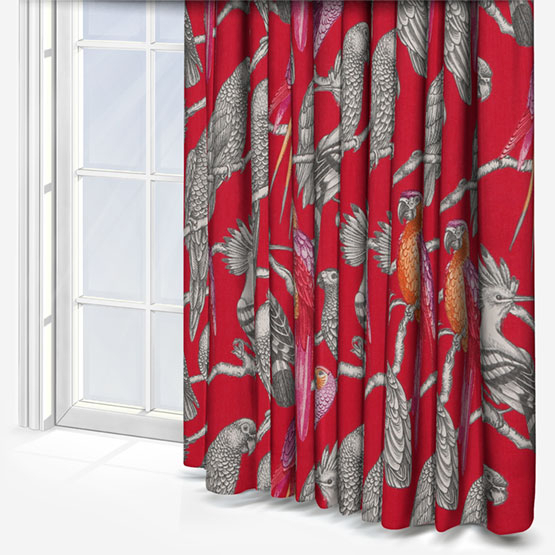 Iliv Aviary Pomegranate Curtain | Roman Blinds Direct For Aviary Window Curtains (Photo 18 of 25)