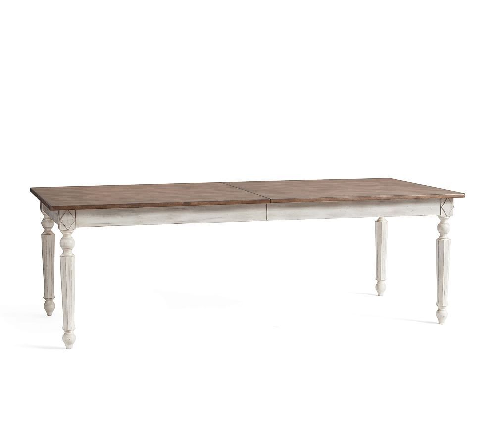 Ingred Extending Dining Table, Large, Nordic White Within 2018 Gray Wash Livingston Extending Dining Tables (View 2 of 25)