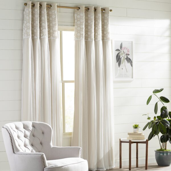 Irish Lace Curtains | Wayfair Pertaining To Country Style Curtain Parts With White Daisy Lace Accent (View 16 of 25)