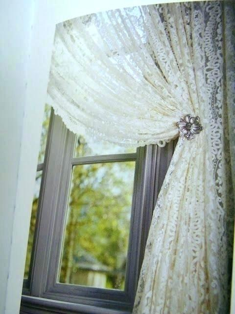 Ivory Lace Curtains – Shopsilver (Image 6 of 25)