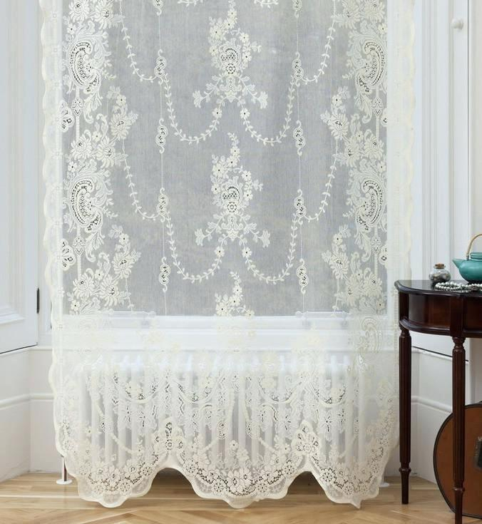 Ivory Lace Curtains – Shopsilver (Image 7 of 25)