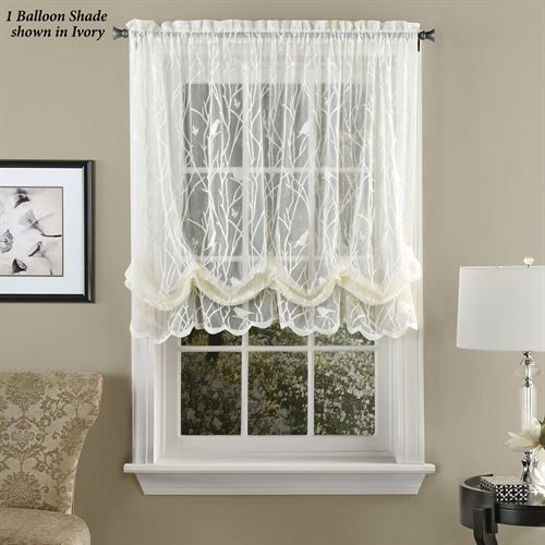 Ivory Micro Striped Semi Sheer Window Curtain Pieces – Tiers Intended For Ivory Micro Striped Semi Sheer Window Curtain Pieces (View 2 of 25)