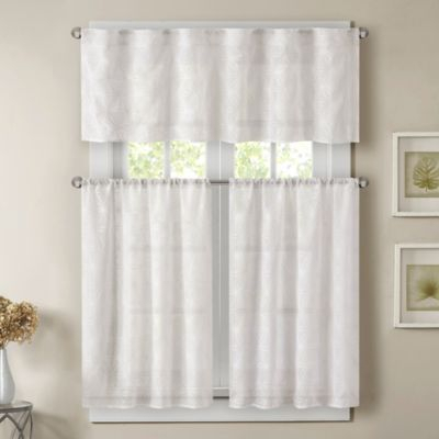Ivory Micro Striped Semi Sheer Window Curtain Pieces – Tiers Pertaining To Ivory Micro Striped Semi Sheer Window Curtain Pieces (View 6 of 25)