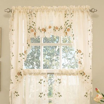 Ivory Micro Striped Semi Sheer Window Curtain Pieces – Tiers Pertaining To White Micro Striped Semi Sheer Window Curtain Pieces (View 2 of 25)