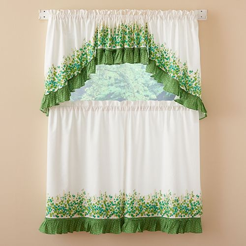 Ivy League Print Tier Curtains   Decorator Ideas   Tier With Regard To Cottage Ivy Curtain Tiers (View 14 of 25)