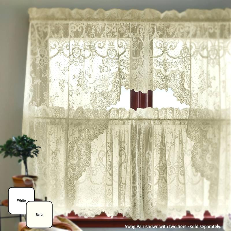 Ivy Swags Grape Garland – Irangram Throughout Cotton Blend Ivy Floral Tier Curtain And Swag Sets (View 14 of 25)
