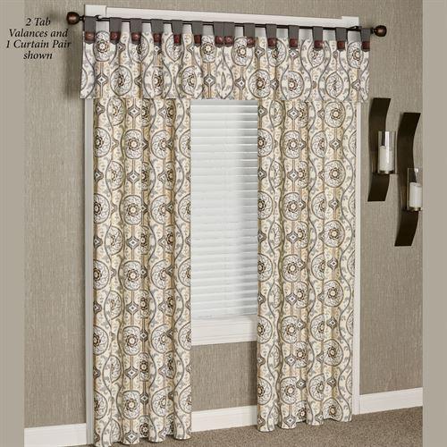 Izmir Medallion Window Treatment Regarding Medallion Window Curtain Valances (View 24 of 25)
