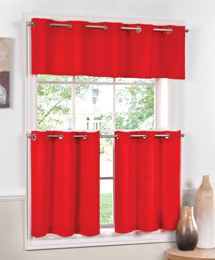 Jackson Curtains – Red | Ideas For The House | Red Kitchen In Modern Subtle Texture Solid Red Kitchen Curtains (View 5 of 25)